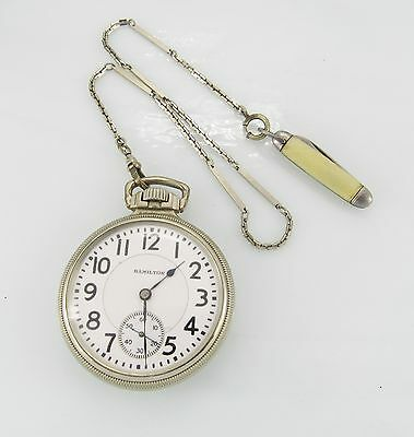 Hamilton 14K Goldfilled 16 Size Open Face Pocket Watch