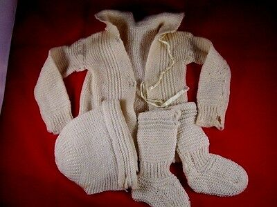 Vintage/Antique Baby Sweater Yellow  0- 3 mo. wool SHABBY
