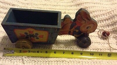 Rare Early Fortys Fisher Price Bunny Easter Pull Toy