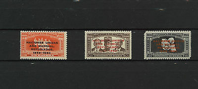 Panama Mint Year of the Refugee Overprint 1960 Set on 1953 Stamp 17-054C