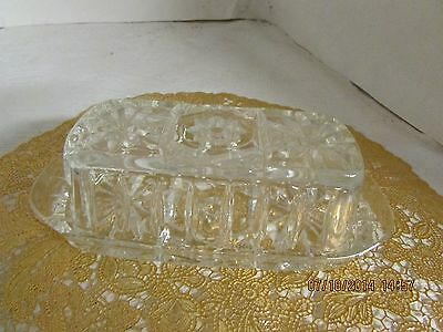 Eapc,  Star Of David  Glass Butter Dish   (1406)