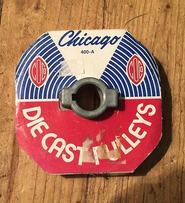 """Chicago Die Cast Single V Grooved Pulley A Belt 4"""" Dia X 3/4"""" Bore Bulk"""