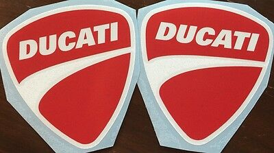 Ducati Vinyl Decals. One Pair. Red/White. Or Choose Your Color