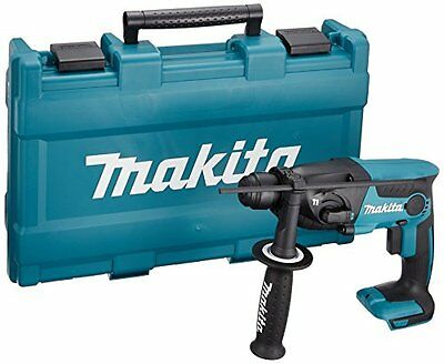 Makita rechargeable hammer drill 18V blue body case attaching