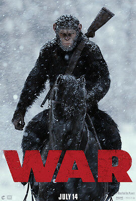 WAR FOR THE PLANET OF THE APES MOVIE POSTER 2 Sided ORIGINAL Advance 27x40