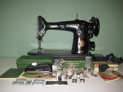 Gorgeous Singer 201-2 Sewing Machine + Accessories Heavy Duty