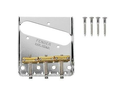 Fender 3-Saddle American Vintage Telecaster Bridge Assembly Chrome 0990806100