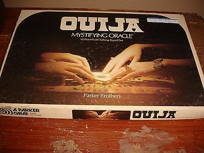1972 Parker Brothers Ouija Board Game Mystifying Oracle Wood Set