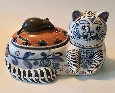 CAT & MOUSE Two Sided Conimbriga Portugal #229 POTPOURRI Cookie JAR