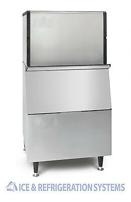 492 Lb COMMERCIAL STAINLESS STEEL  ICE MACHINE MAKER WITH 500LB BIN