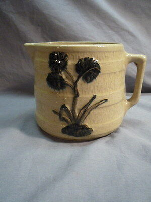 RRP Co. Stoneware Milk Pitcher Jug Banded Thistle