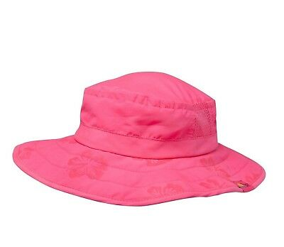 Sun Protection Zone Kids' UPF 50+ Safari Sun Hat, Pink Flowers, Uv Sun Protec...