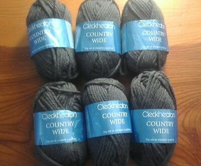 Cleckheaton Country Wide pure new wool 300g dark grey