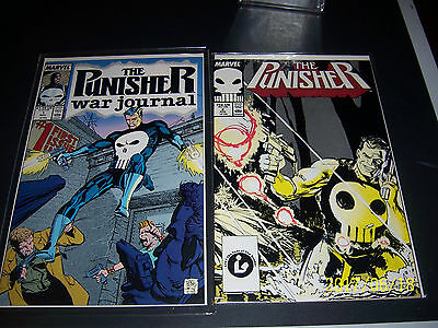 Lot of 2 Comic Books - Punisher War Journal #1 and The Punisher #2