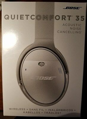 NEW Bose QuietComfort 35 Acoustic Noise Cancelling Wireless headphones Silver