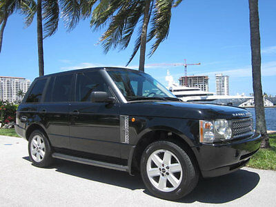2004 Land Rover Range Rover 4dr Wagon HSE Florida Stunning Carfax Certified Land Rover Range Rover HSE Luxury Package AWD