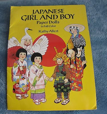 Vintage New Japanese Girl And Boy Paper Doll Cut Outs  Booklet By Kathy Allert