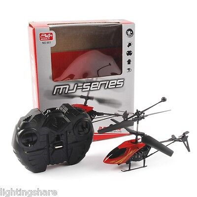 NEW Mini RC Helicopter 2.5CH Remote Control Aircraft 901 Radio LED Kids Toy Gift