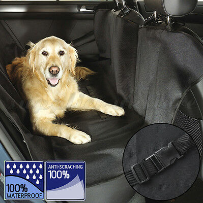 Black Waterproof Pet Dog Rear Back Seat Auto Car Blanket Cover Protector For Pet