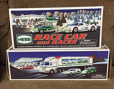1997 Hess Toy Truck and Racers 2009 Race Car & Racers Previously Displayed