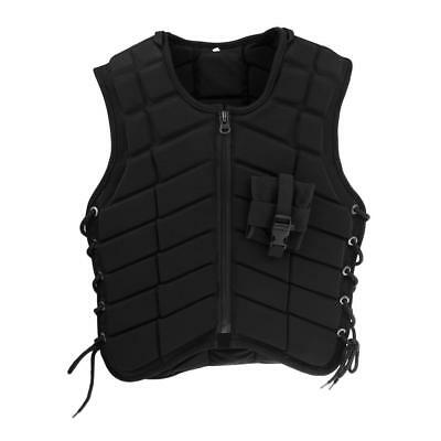 Adult Safety Horse Riding Equestrian Eventer Protective Vest Black - Men XXL