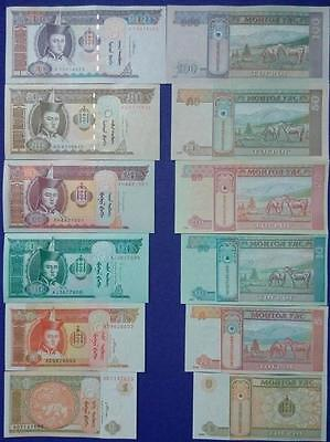 Mongolia BrandNew Banknotes 6 pieces