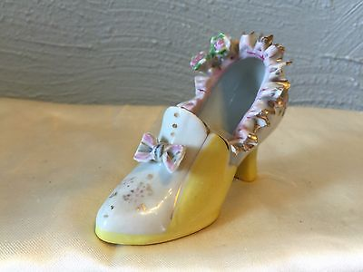 Old Vintage Porcelain Shoe from Japan 1950 very rare