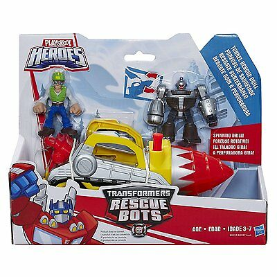 Playskool Heroes Transformers Rescue Bots Tunnel Rescue Drift 3+ Toy Optimus Fun