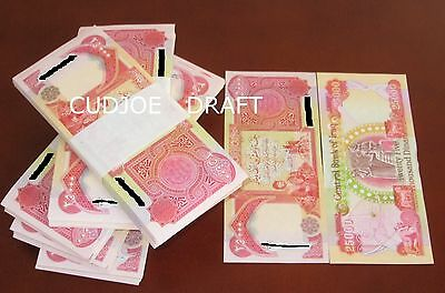 Fresh & Hot New Uncirculated Iraqi Dinar Banknotes 500K @ 20X25000 Crisp (Nid)