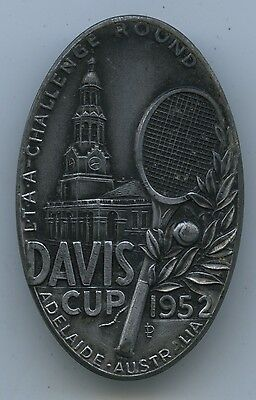 Ltaa Challenge Round Tennis Davis Cup 1952 Adelaide Made By Stokes Of Melb. J38