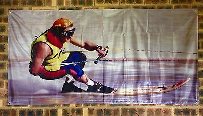 'DOWN LOW' WATER SKI RACING BANNERS Waterski Race Stickers Too! Buy Together!😎