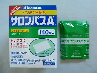 SALONPAS PAIN RELIEVING PATCHES -1 Pack 20 patches Expiry 4/ 2020 Made in Japan