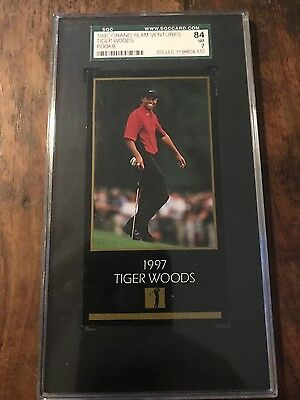 tiger wood rookie card grand slam venture 1997 nm 7