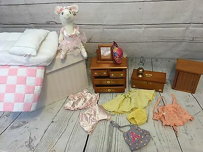 American Girl Angelina Ballerina Lot Of Furniture Clothes And More