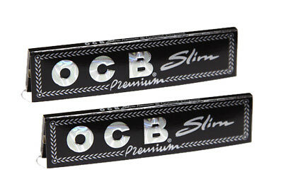 Ocb Premium Slims King Size Cigarette Rolling Papers - 3 Booklets