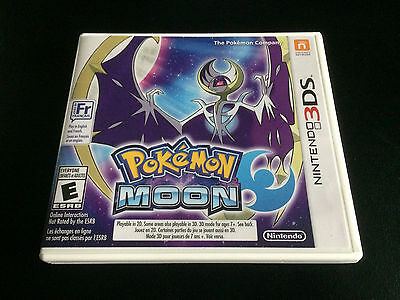 Pokemon Moon - Nintendo 3DS - Complete in Box CIB - Great Condition!