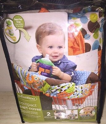 Infantino Compact 2-n-1 multicolor Grocery Shopping Cart & High Chair Cover