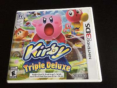 Kirby: Triple Deluxe - Nintendo 3DS - Complete in Box CIB - Great Condition!