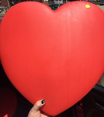 "19"" 1995 Union Valentines Day Red Heart Blow Mold! Amazing Shape!"
