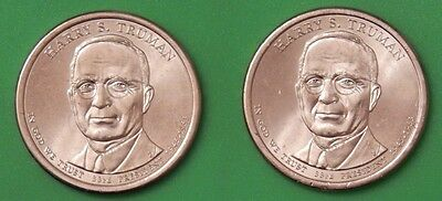 2015 US Harry S. Truman Presidential Dollar Set One P&One D From Mint Roll
