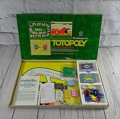 Vintage Totopoly  Horse Racing Board Game Waddingtons 1972