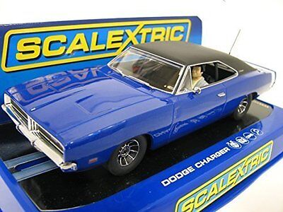 Scalextric C3535 Dodge Charger Road Car Metallic Blue - Mint, Boxed Condition