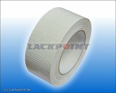 GP=0,08€/m 1 x Duct Tape Tape Textile tape WHITE Packing tape NEW TOP TAPE