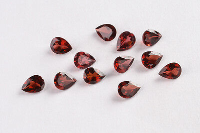 100% NATURAL13.17 Ct REDDISH BROWN PEAR PYROPE ALMANDINE GARNET GEMSTONE  - 4205