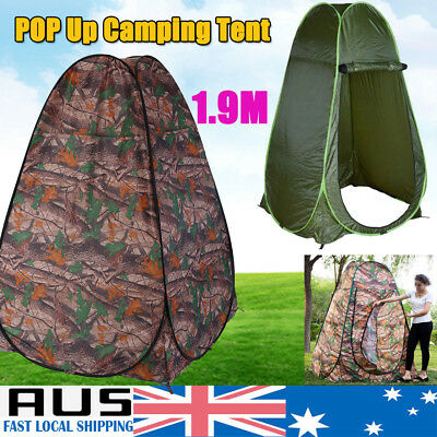 Foldable Portable Outdoor Camp Toilet Pop Up Shower Tent Privacy Shelter AU Ship