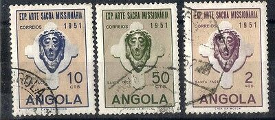 Angola.  1952.  Missionary Art Exhibition.   SG484-485.  Used.