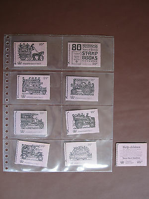 GB - 9 different 25p booklets - see notes and pictures