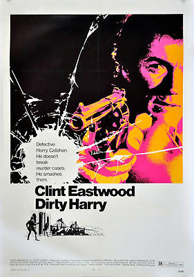 Dirty Harry Mini Laminated Movie Poster Clint Eastwood Free Uk Post