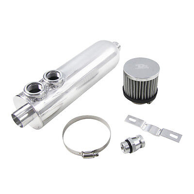 1.25L Polished Aluminum OIL CATCH TANK Racing BREATHER TURBO ENGINE 1250ml HOT