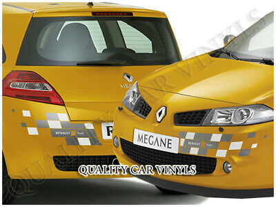 P70 Renault Megane Sport Coupe F1 Team Chequered Bumper Graphics Decal Stickers